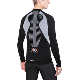 X-Bionic The Trick Biking Shirt LS Full Zip Men Black/White